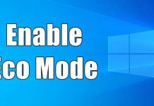 Enable Eco Mode in Windows 10