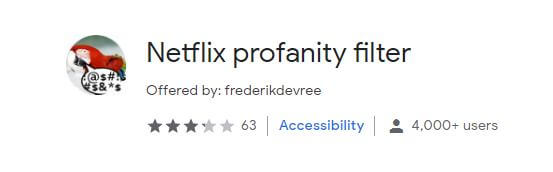 Netflix Profanity Filter