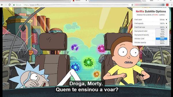 Netflix Subtitle Option
