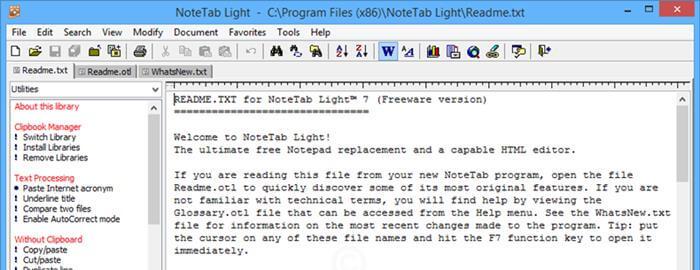 Note Tab Light