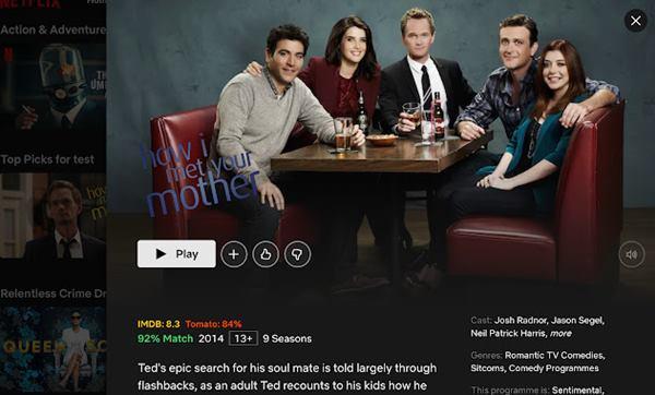 Trim IMDB Ratings on Netflix