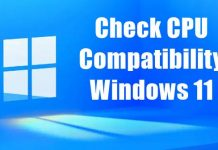 How to Check CPU Compatibility for Windows 11
