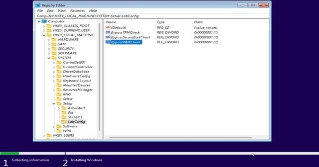 Editing registry keys