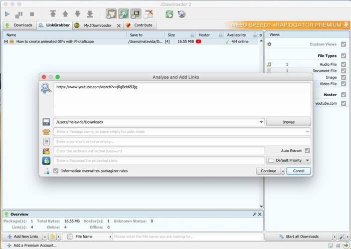 Jdownloader for Mac