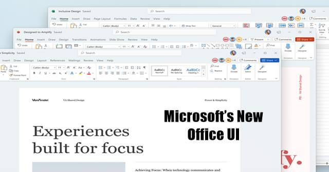 Microsoft Office New Design Update is Now Available for Office Insiders