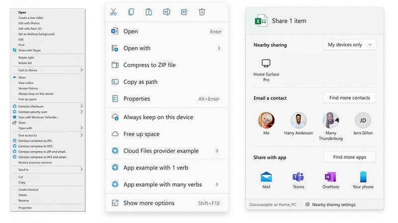 Windows 11 Context Menu is Redesigned to be More Helpful and Easy