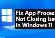 Fix App Process Not Closing Issue in Windows 11