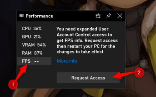 See FPS in Any Windows 10 Game