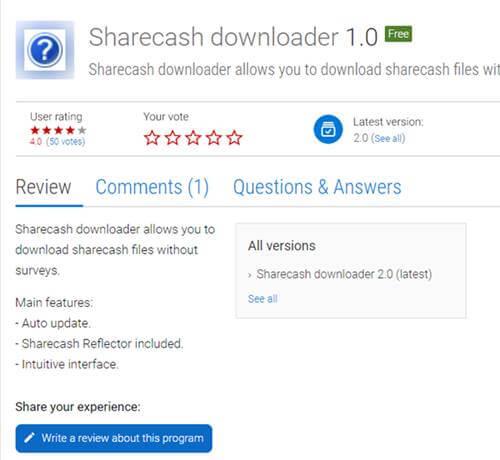 Sharecash Downloader