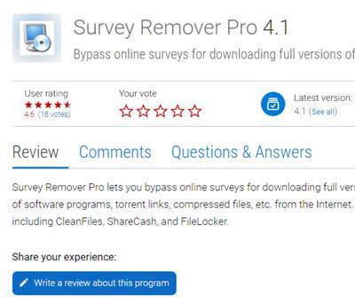 Survey Remover Pro