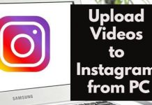 Upload Videos to Instagram from Computer PC
