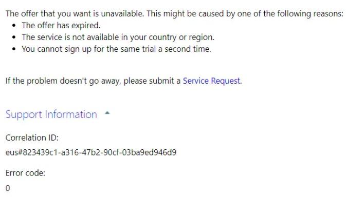 Windows error message