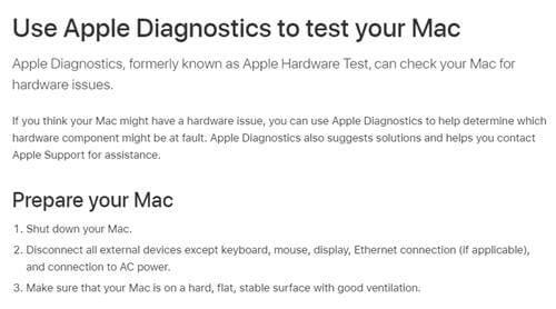 Apple Diagnostic