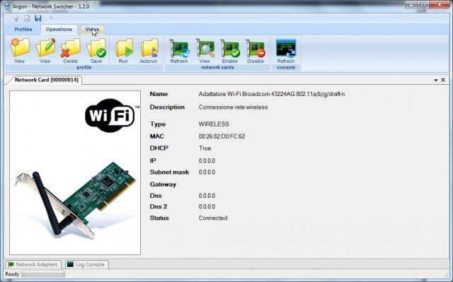 Argon Network Switcher