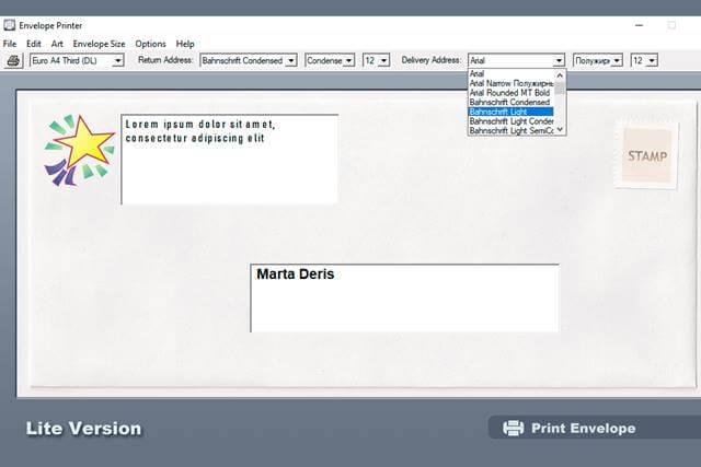Dataware Envelop Printer