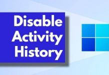Disable Activity History