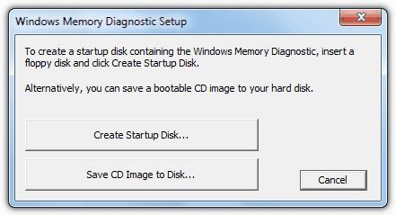 Microsoft Windows Memory Diagnostics