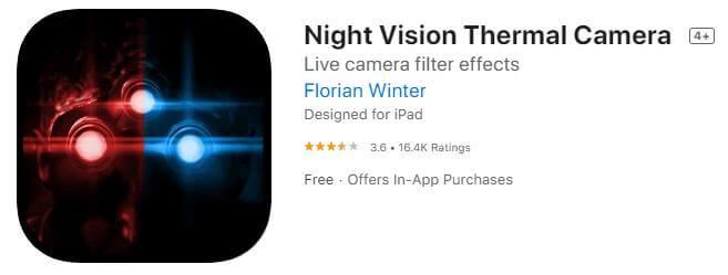 Thermal night vision camera