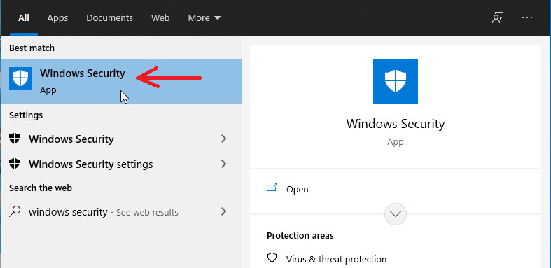 Search windows security