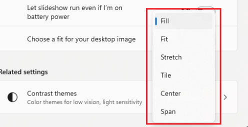 choose a fit for your desktop image