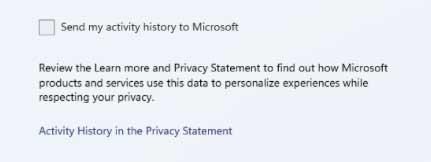 send my activity history to Microsoft.