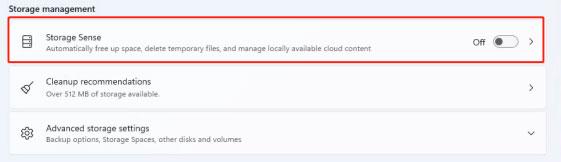 turn on storage optimization to fix slow startup issue