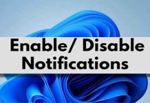 Enable Or Disable Notifications On Windows 11