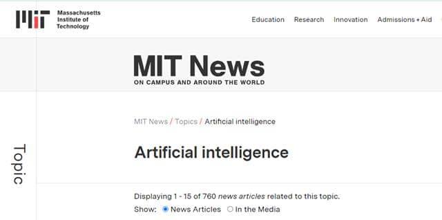 Artificial Intelligence MIT News