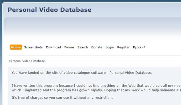 Personal Video Database